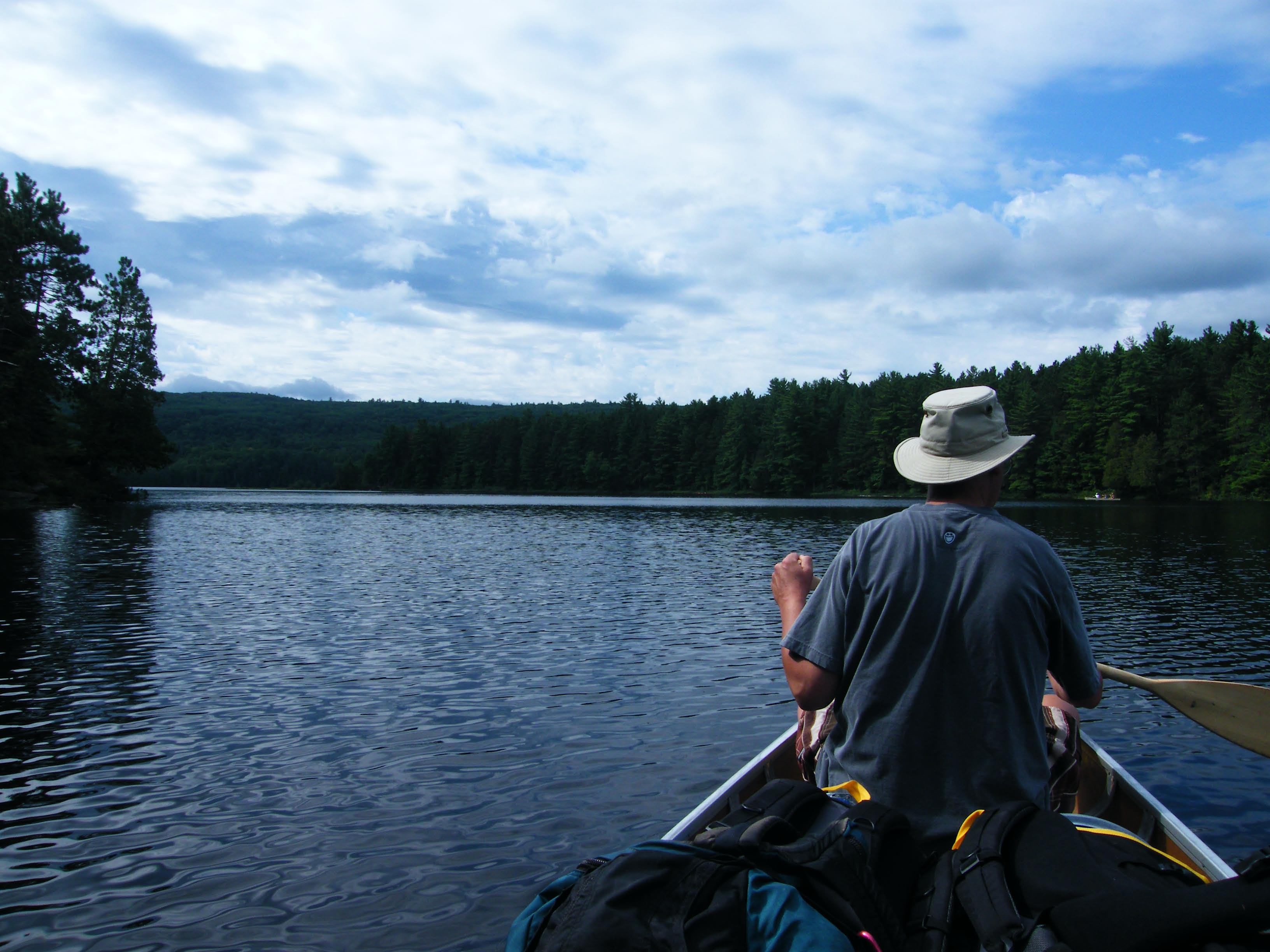 Eric on the Barron River, Algonquin Park, August 2011